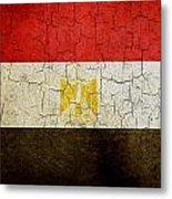 Grunge Egypt Flag Metal Print