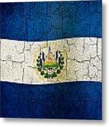 Grunge El Salvador Flag Metal Print