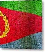 Grunge Eritrea Flag Metal Print