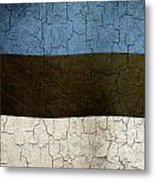Grunge Estonia Flag Metal Print