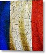 Grunge France Flag Metal Print