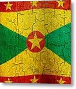 Grunge Grenada Flag Metal Print