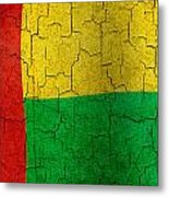 Grunge Guinea-bissau Flag Metal Print