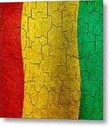 Grunge Guinea Flag Metal Print