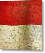 Grunge Indonesia Flag Metal Print