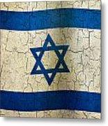 Grunge Israel Flag Metal Print