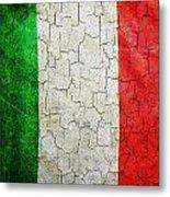 Grunge Italy Flag Metal Print