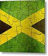 Grunge Jamaica Flag Metal Print