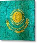 Grunge Kazakhstan Flag Metal Print