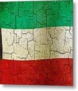 Grunge Kuwait Flag Metal Print