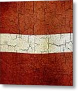 Grunge Latvia Flag Metal Print