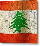 Grunge Lebanon Flag Metal Print