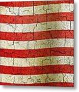 Grunge Liberia Flag Metal Print