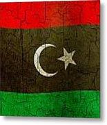 Grunge Libya Flag Metal Print