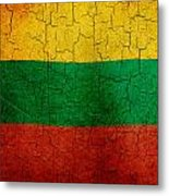 Grunge Lithuania Flag Metal Print