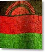 Grunge Malawi Flag Metal Print