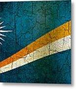 Grunge Marshall Islands Flag Metal Print