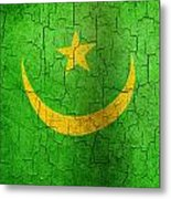 Grunge Mauritania Flag Metal Print