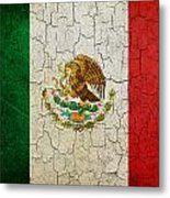 Grunge Mexico Flag Metal Print