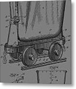 Grunge Mine Trolley Patent Metal Print