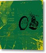 Grunge Motorcycle Background Vector Metal Print