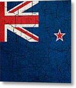 Grunge New Zealand Flag Metal Print