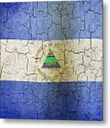 Grunge Nicaragua Flag Metal Print