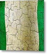 Grunge Nigeria Flag Metal Print