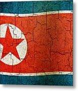 Grunge North Korea Flag Metal Print
