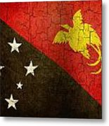 Grunge Papua New Guinea Flag Metal Print