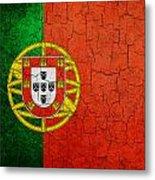 Grunge Portugal Flag Metal Print