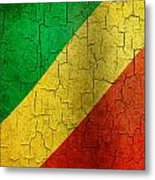 Grunge Republic Of The Congo Flag Metal Print