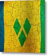 Grunge Saint Vincent And The Grenadines Flag Metal Print