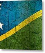 Grunge Solomon Islands Flag Metal Print