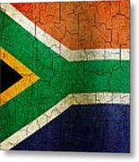 Grunge South Africa Flag Metal Print