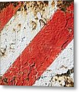 Grunge Stripe Background Metal Print
