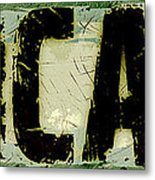 Grunge Style Chicago Sign Metal Print