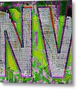 Grunge Style Denver Sign Metal Print