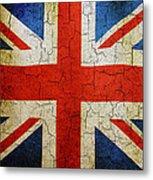 Grunge Union Flag Metal Print