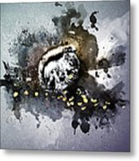 Grungy Hungry Squirrel  Metal Print