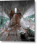 Grungy Prison Cell Metal Print