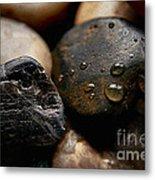 Rocks And Drops Metal Print