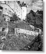 Gruyeres Castle Bw Metal Print