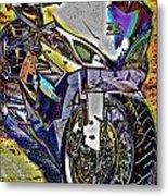 Gsxr Color Metal Print
