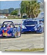 Gtp Prototypes Taking 4 At Sebring Metal Print