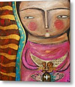 Guadalupe Metal Print by Thelma Lugo