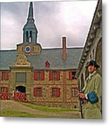 Guard At King's Bastion In Louisbourg Living History Museum-1744 Metal Print