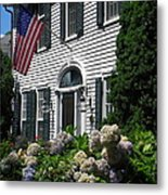 Guarded By Hydrangea Metal Print