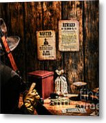 Guarding The Payroll Metal Print