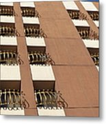 Guardrails And Stripes Metal Print